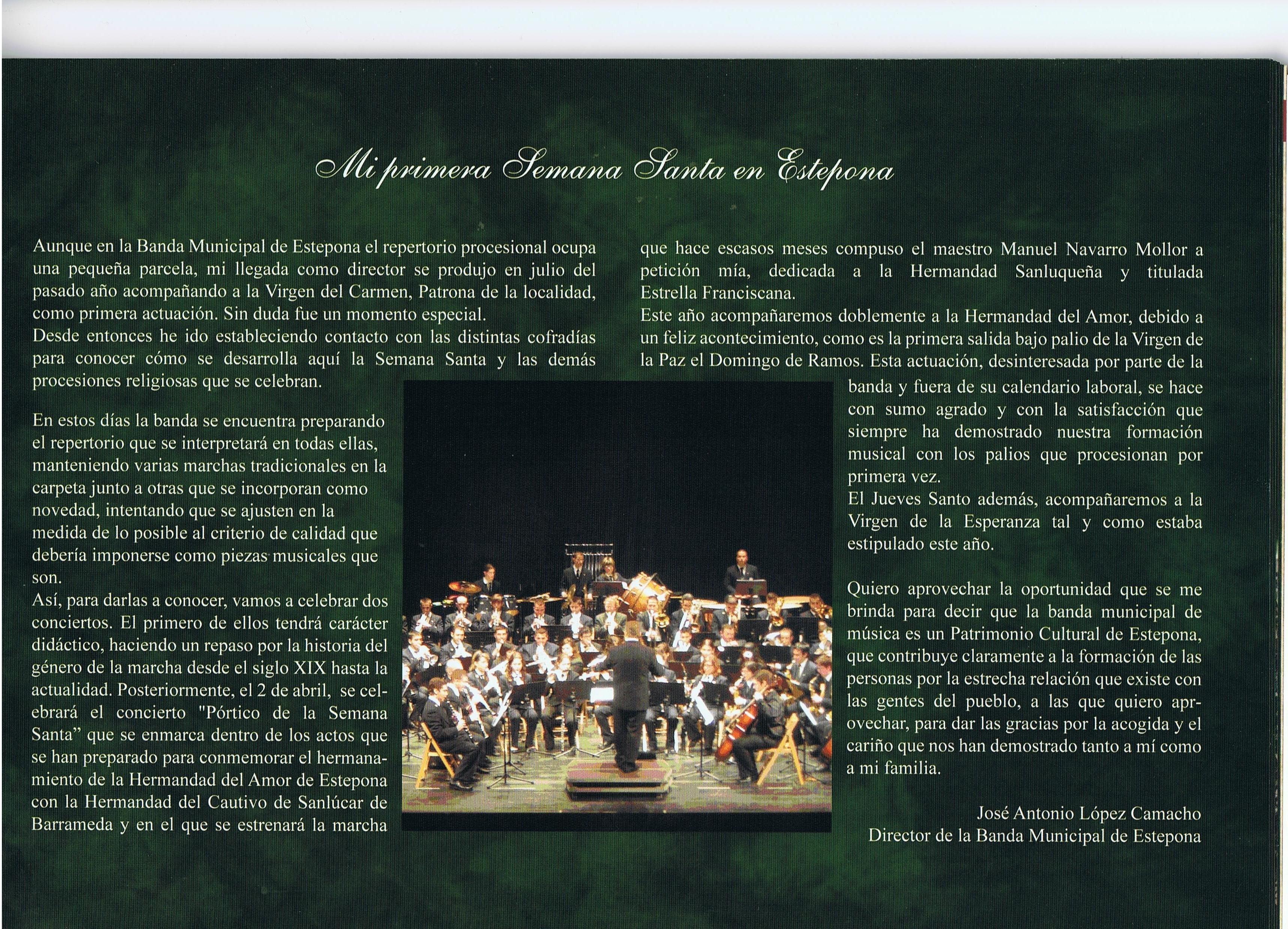 Artículo en la Revista de la Semana Santa 2011