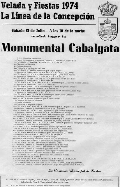 Monumental Cabalgata de La Linea 1974