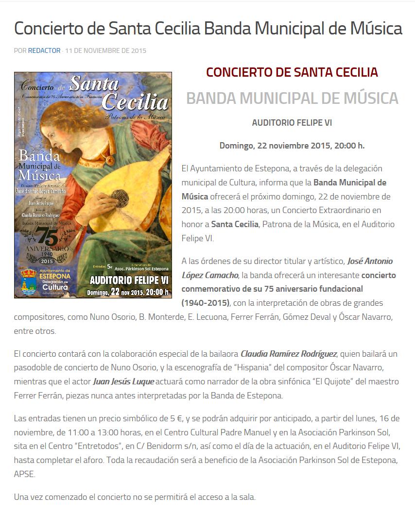 Concierto de Santa Cecilia Banda Municipal